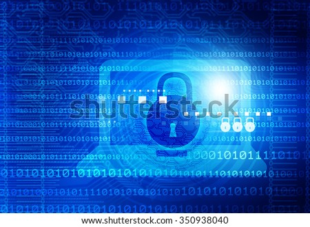 Digital background of Internet Security - stock photo