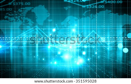 Digital background with infographs and business concepts