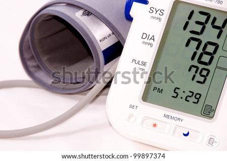Digital Blood Pressure Monitor - stock photo