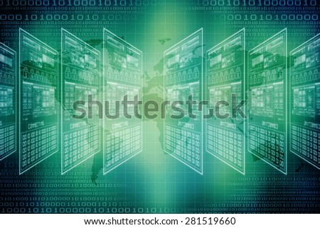 digital business background - stock photo