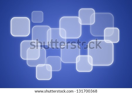 digital button on blue background - stock photo