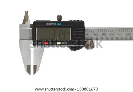 Digital Caliper - stock photo