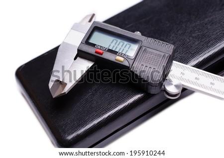 Digital Caliper isolated on white background - stock photo