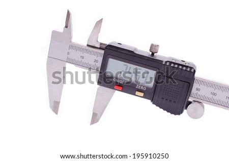 Digital Caliper isolated on white background - stock photo