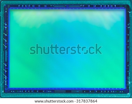Digital camera APS-C sensor - stock photo