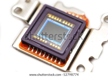 Digital camera sensor - stock photo