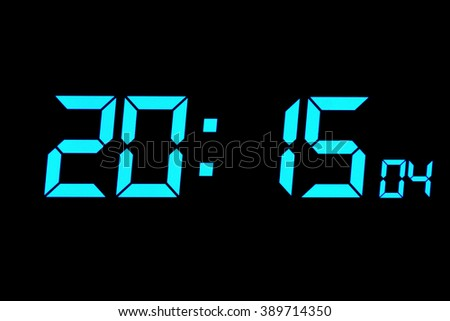 Digital clock timer and alarm for wake up. - stock photo