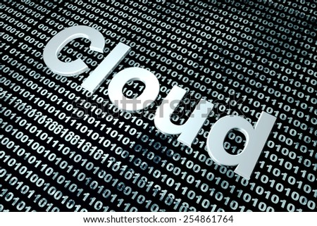 Digital Cloud. 3D rendered background.  - stock photo