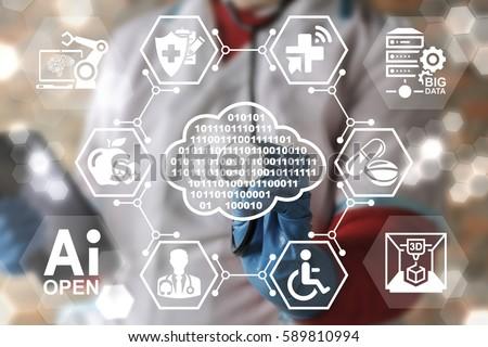 Ai Iot Medicine Integration Automation Computer Stock