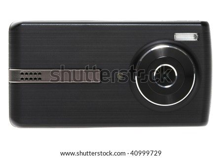 Digital compact camera isolated on white
