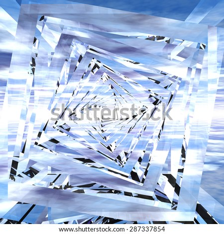 Digital 3D Illustration of a geometric Structure - stock photo