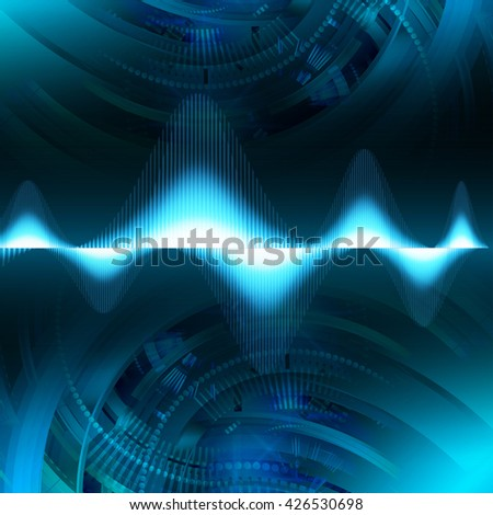 digital data background,blue abstract light hi tech pixel internet technology, Cyber security concept, Cyber digital, Cyber computer, Cyber background, Cyber Technology,computer security. wave - stock photo