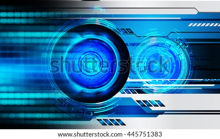 digital data background,blue abstract light hi tech pixel internet technology, Cyber security concept, Cyber data digital computer. eye scan virus, motion move speed