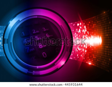 digital data background, pink blue red abstract light hi tech pixel internet technology, Cyber security concept digital computer. eye scan virus, motion move speed - stock photo
