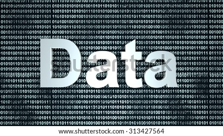 Digital Data. 3D rendered background.  - stock photo