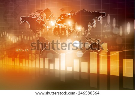 Digital design of Stock market chart  	 - stock photo