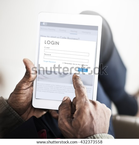 Digital Device Internet Connection Technology Concept - stock photo