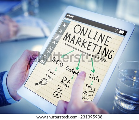 Digital Device Online Marketing Concept - stock photo