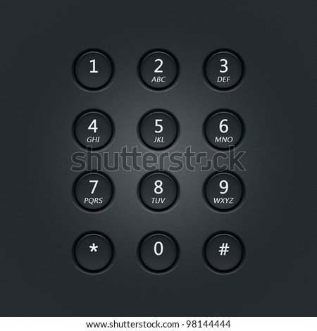 Digital dial plate of security lock or telephone keypad - stock photo
