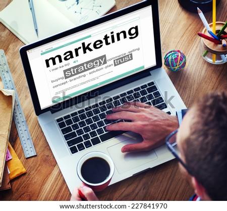 Digital Dictionary Laptop Marketing Concept - stock photo