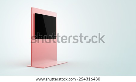 Digital display, isolated on a gradient background. Copy space three dimensional image. - stock photo