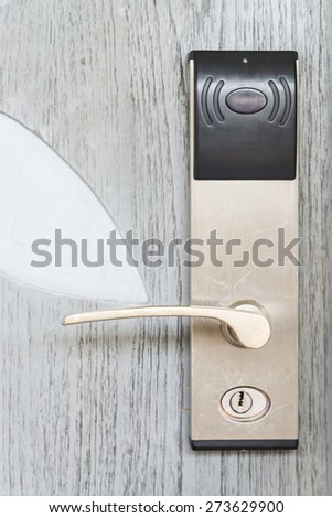 Digital door lock - stock photo