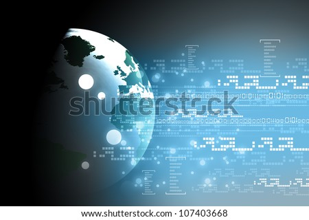 digital earth - stock photo