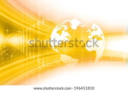 Digital Earth , globe  - stock photo