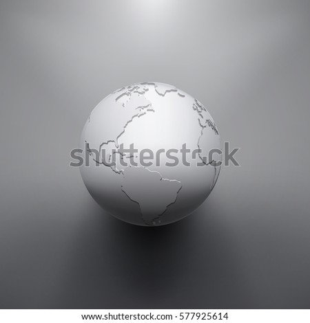 Digital Earth image of globe. The concept 3d illustration
