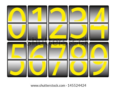 digital effect numbers 0 to 9 - stock photo