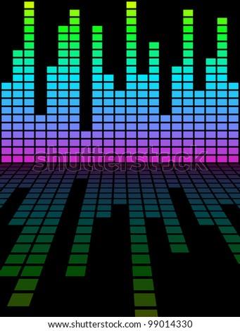digital equalizer - stock photo