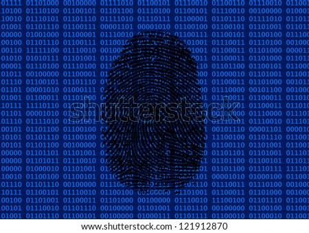 Digital fingerprint - stock photo