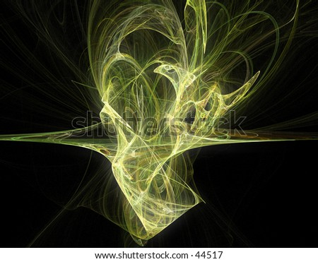 Digital fractal art 02 - stock photo