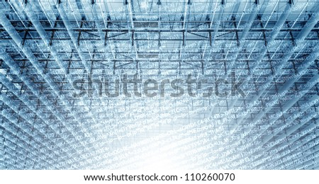 Digital Framework - stock photo