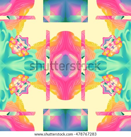 digital glitch art seamless psychedelic background