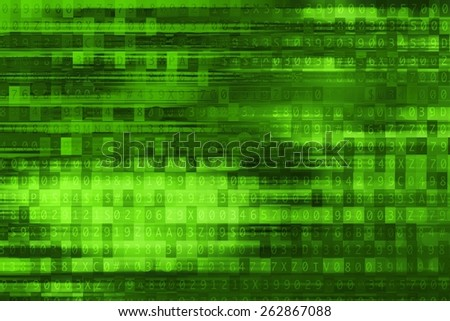 Digital Green Background. Cool Abstract Green Technology Background. - stock photo