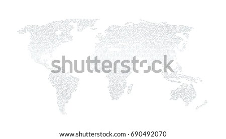 Digital grey color world map on stock illustration 690492070 digital grey color world map on the white background gumiabroncs Gallery