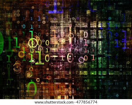 Digital Grid series. Backdrop composed of virtual points and numbers and suitable for use in the projects on math, science, research and modern technology