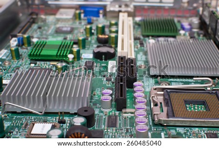 Digital hardware.electronic circuit close-up