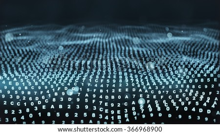 digital hexadecimal symbols. computer generated abstract background