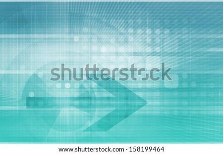 Digital Identity Management as New Technology Art - stock photo