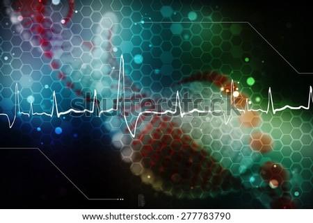 Digital illustration DNA structure - stock photo