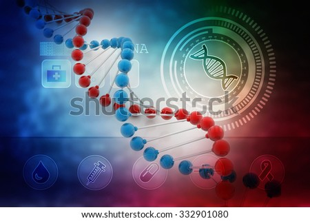 Digital illustration DNA structure