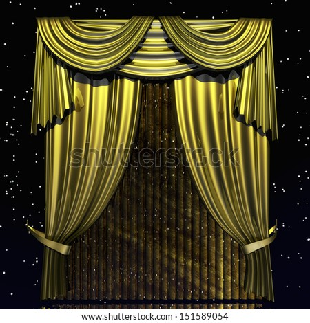 Digital Illustration of a Curtain