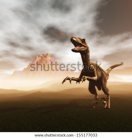 Digital Illustration of a Dinosaur