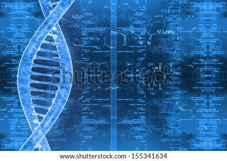 digital illustration of a DNA in beautiful background - stock photo