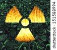 Digital Illustration of a Radioactivity Sign - stock