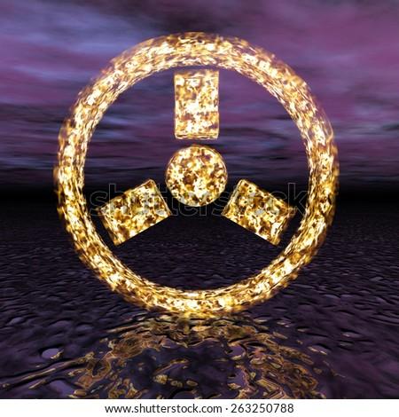 Digital Illustration of a Radioactivity Sign - stock photo