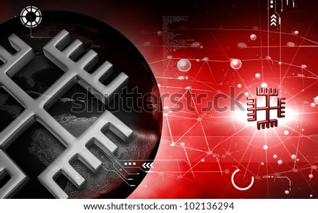 Digital illustration of a Religious Symbol in isolated background