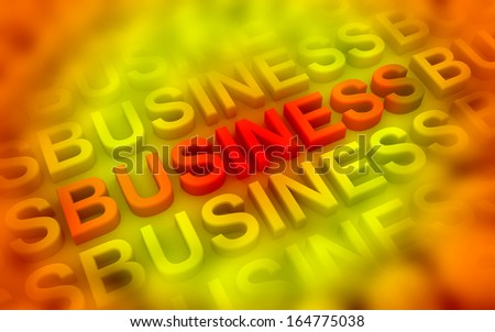 Digital illustration of Business graph in 3d on colour background - stock photo